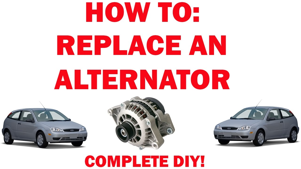 how to replace an alternator ford focus youtube rh youtube com 2008 Ford Edge Alternator Plug 2007 Ford Focus Alternator Location
