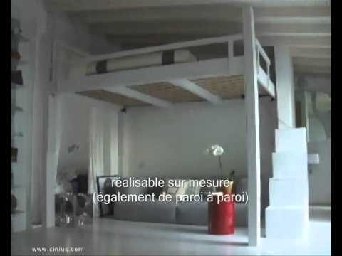 Extrêmement LIT ESCAMOTABLE - LIT MEZZANINE - YouTube WQ83