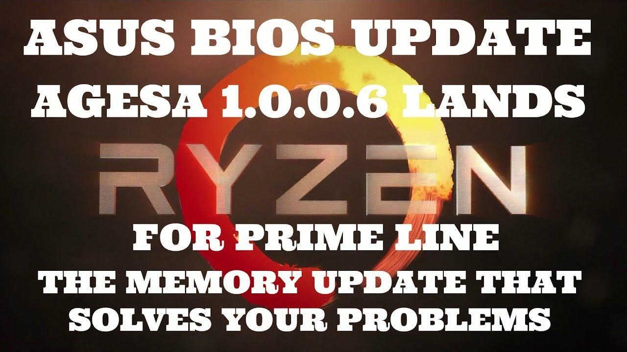 Asus Updates BIOS for AM4 RYZEN Prime line to AGESA 1 0 0 6