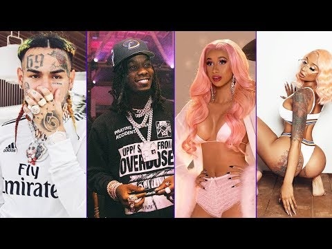 6ix9ine and Nicki Minaj put Offset's SIDE PIECE (Baddie Gi) in the new music video to TROLL Cardi B