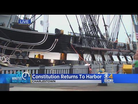 USS Constitution Returns To Boston Harbor