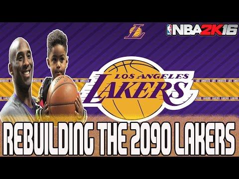 NBA 2K16 MY LEAGUE: REBUILDING THE 2090 LA LAKERS - $70 MILLION CONTRACTS?