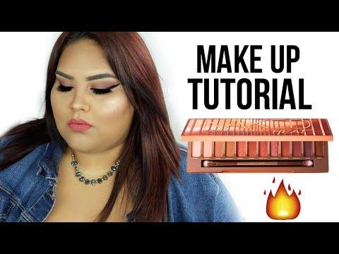 Urban Decay NAKED HEAT makeup tutorial | Curvy it girl. http://bit.ly/2Clqkib