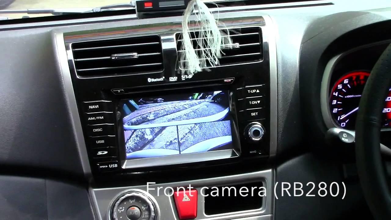 Perodua Myvi (Lagi Best)  Rear camera interface, (AN4007) & front camera on stock head unit