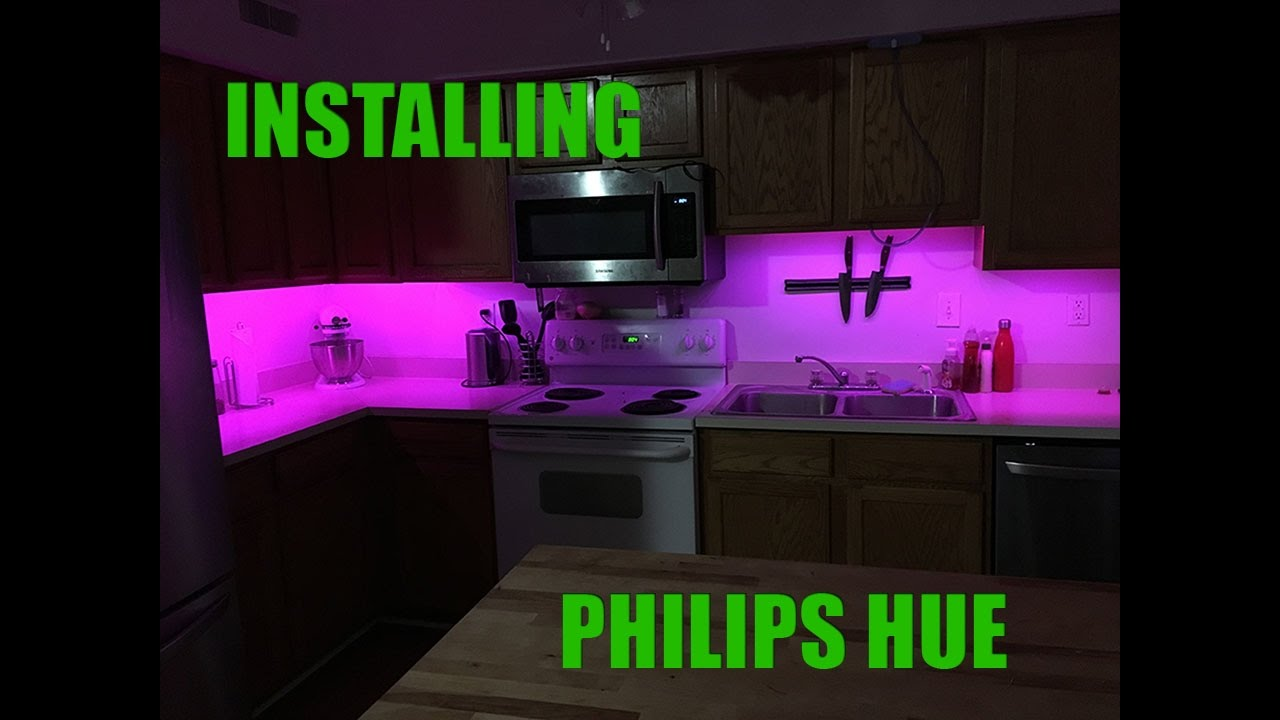 installing philips hue lightstrip under cabinet. Black Bedroom Furniture Sets. Home Design Ideas