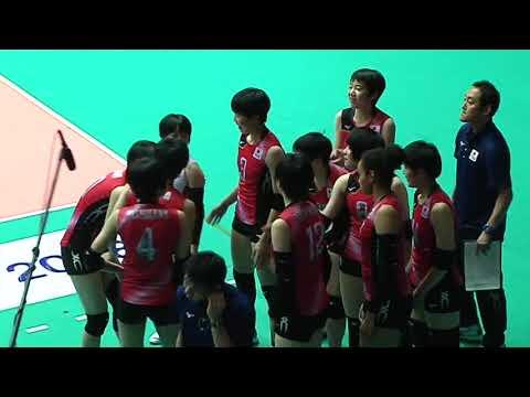 HL  SMM 12th Asian Est Cola Women's U17 Volleyball Championship / ญี่ปุ่น พบกับ เกาหลี
