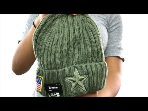 super popular 99647 dd997 Cowboys  2017 SALUTE-TO-SERVICE  Knit Beanie Hat by New Era