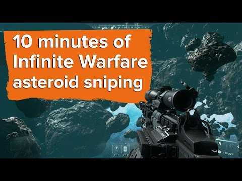 10 minutes of Infinite Warfare asteroid sniping gameplay
