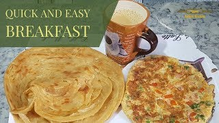 Omelette Paratha recipe | Quik and Easy Breakfast | new recipe by golden kitchen