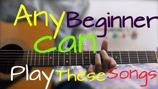 ANY BEGINNER CAN PLAY THESE SONGS - Easiest Pattern - guitar lesson hindi chords
