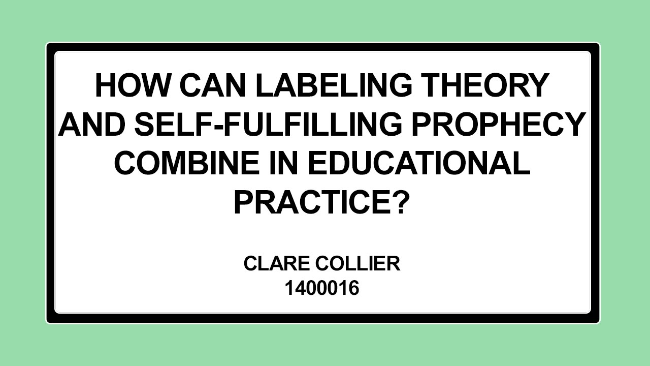 self fulfilling prophecy sociology
