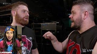 WWE Smackdown 8/22/17 KO and Sami Zayn Backstage