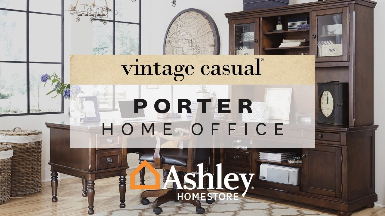 Ashley HomeStore | Porter Home Office - YouTube