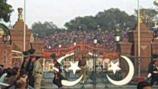 India / Pakistan Border - Guard Changing Ceremony