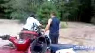 mom crashing dirtbike