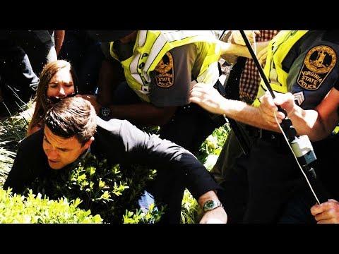 Rally Organizer Jason Kessler Runs Away From Irate Protesters