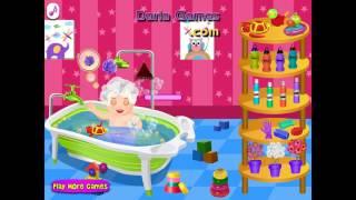 NEW мультик онлайн для девочек—Уход за ребенком купаем—Игры для детей
