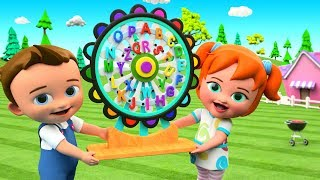 ABC Song for Children - Little Baby Boy & Girl Fun Learn Alphabets with Giant Wheel Toy 3D Kids Toys