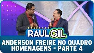 Programa Raul Gil (27/06/15) - Anderson Freire no Homenagens - Parte 4
