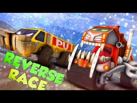 Crypto Trucks | Sasquash vs Funky Truck | Reverse Race | Videos  For Toddlers  by Kids Channel