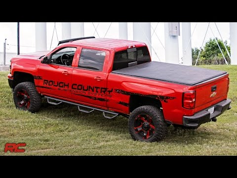 Tri-Fold Tonneau Vinyl Soft Bed Cover by Rough Country