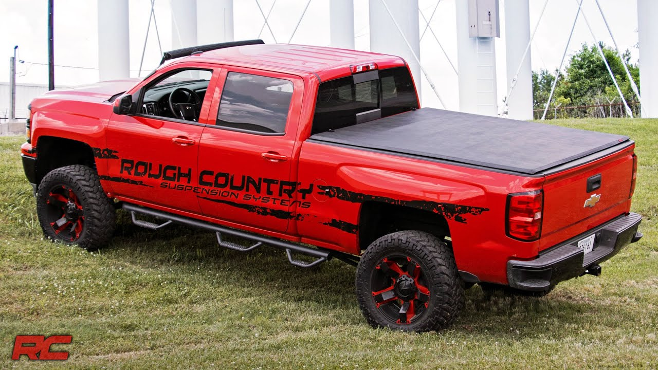 Tri Fold Tonneau Vinyl Soft Bed Cover By Rough Country