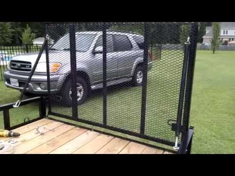 Spring assist trailer gate lift assist for the poor man...