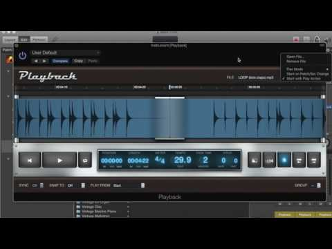 Setting up Loop Tracks in Mainstage