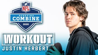 Justin Herbert's FULL 2020 NFL Scouting Combine Workout