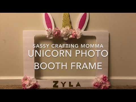 Unicorn Photo Booth Frame (DIY)