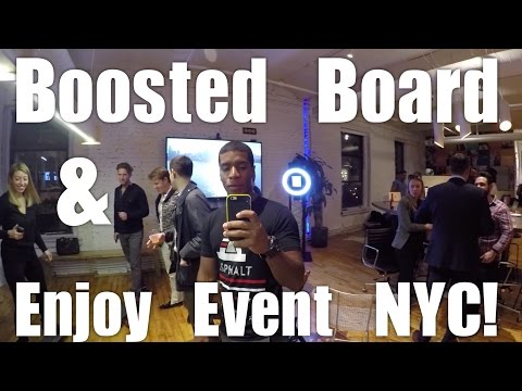 Boosted Boards + Enjoy Event in NYC (Vlog #3)