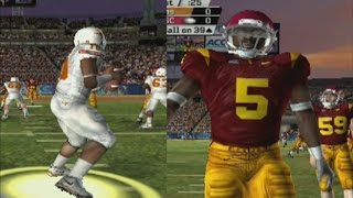NCAA FOOTBALL 2006 PS2 GAMEPLAY USC VS TEXAS
