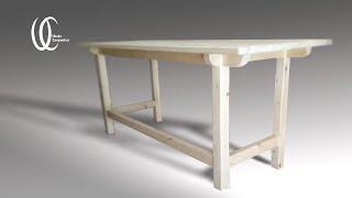 Creating a wooden table:16x full video Making a pine wooden table using a tenon joint.