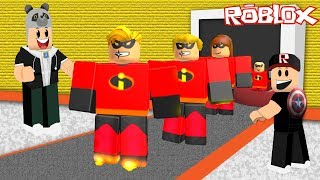 We've built an amazing Family Factory!! - Roblox 4 Player Superhero Tycoon with Panda