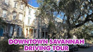 Conduje por el centro de Savannah, Georgia en una hermosa tarde
