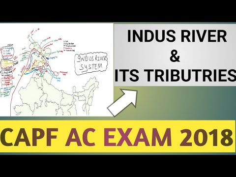 CAPF AC PREPRATION : INDUS RIVER SYSTEM WITH ALL TRIBUTRIES...