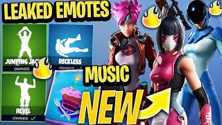 Fortnite *NEW* SEASON 9 *LEAKED* EMOTES & SKINS! *FREE REWARDS* (Jumping Jacks, Reckless, Revel)
