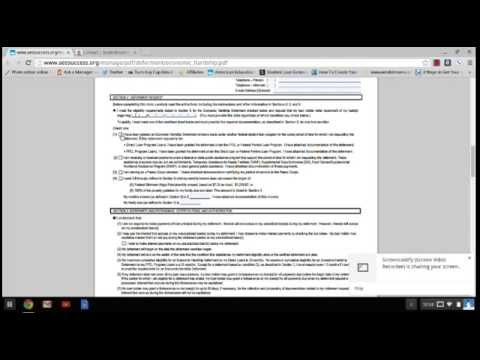 How to complete an Economic Hardship Deferment - YouTube