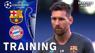 Barcelona Players Train Ahead Of Champions League Quarter-Final Clash With Bayern Munich