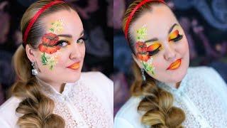 Фантазийный макияж в русском стиле Fantasy Makeup Tutorial