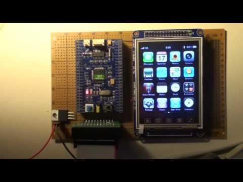 STM32+ILI9320 LCD Demonstration + 3D algorithm