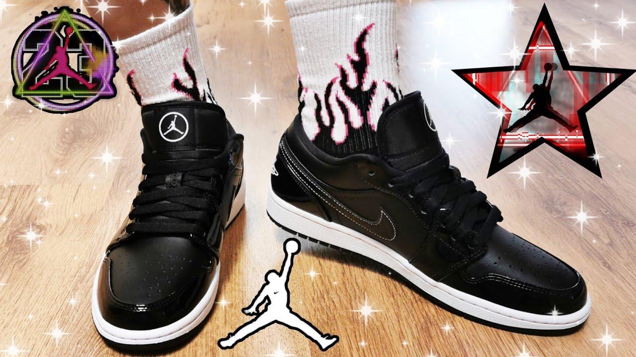 Jordan 1 Low SE ALL - STAR (2021)/ Jordan 1 Low ASW Black Patent/ Unbox & ON FEET / EP.104