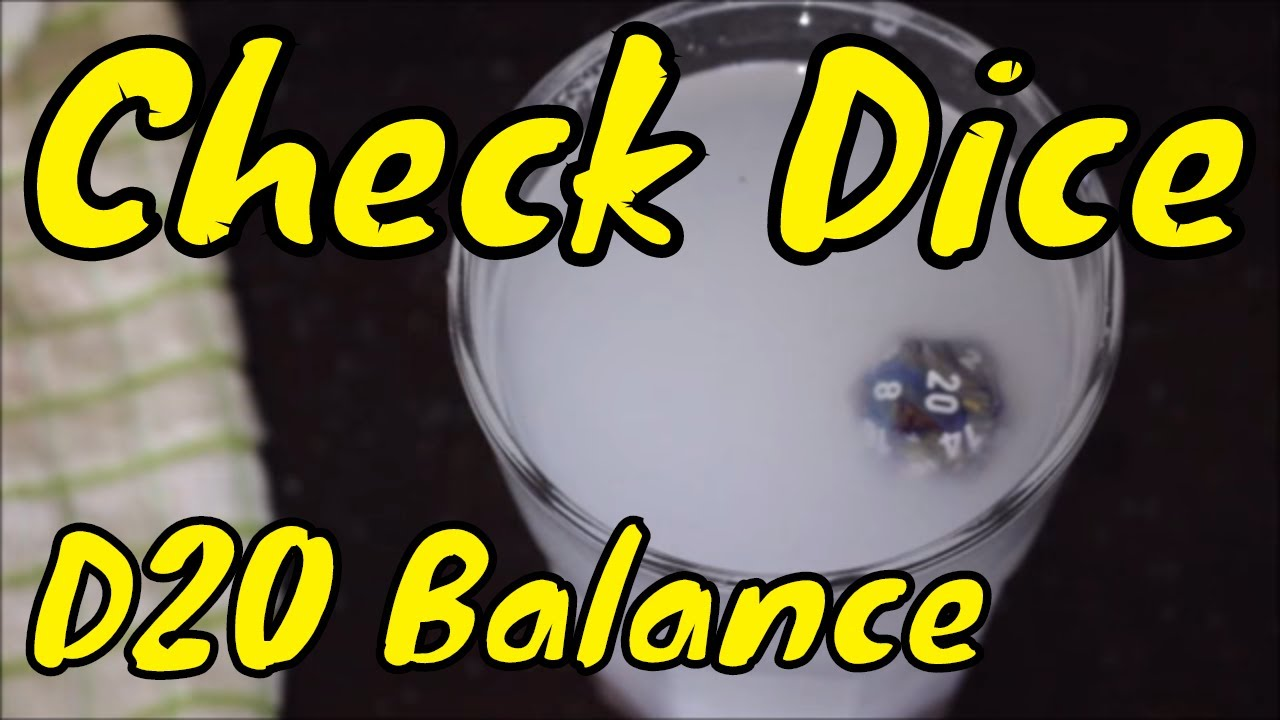 D&D: Check your dice are balanced (D20)