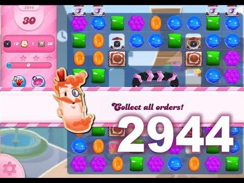 Candy Crush Saga Level 2944 (3 stars, No boosters)