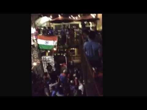 Clubs in Adelaide play desi music after India won over Pakistan Cricket World Cup 2015.
