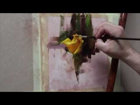 How to Paint Yellow Roses in 10 Steps - Master Oil Painting