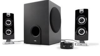 cyber acoustics subwoofer satellite system review ca 3602a