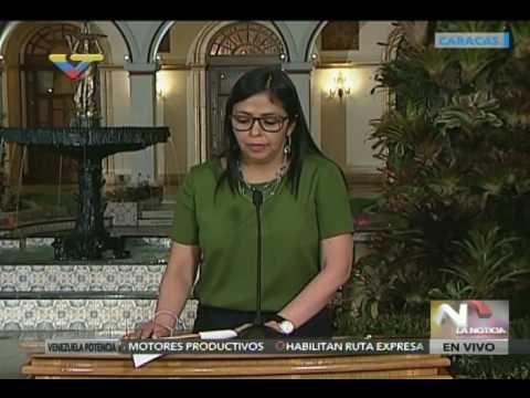 Canciller venezolana Delcy Rodríguez sobre supuestas tropas de su país en territorio colombiano