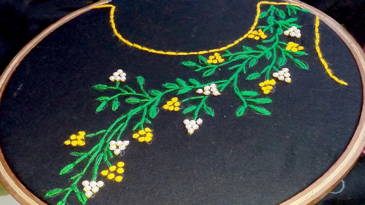 Hand Embroidery Neck Line Embroidery Design Simple Neck Design Youtube,Creative Design Workspace
