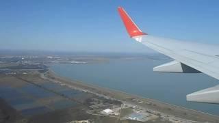 "Неудачный заход на посадку  Boeing 737-800 ""Аэрофлот"" в Краснодаре  2.9.2016. Уход на второй круг."
